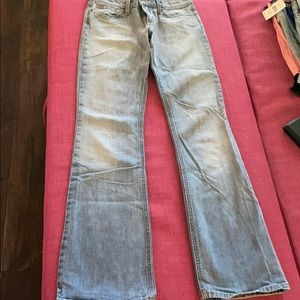 Joe's Jeans Boot Cut Natural Frayed Look